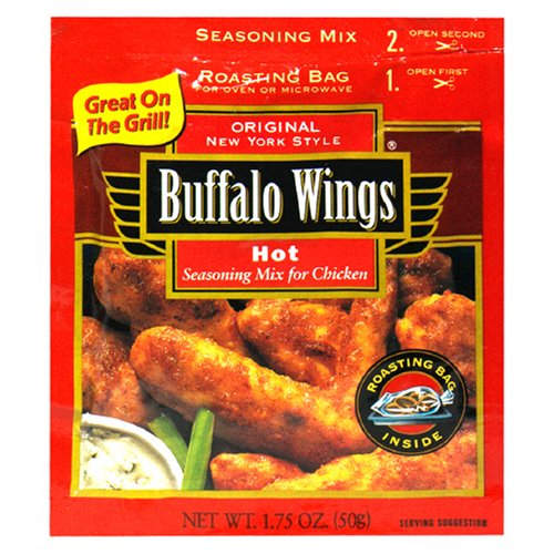 Buy Buffalo Wings New York Style Seasoning Mix for Chicken, Hot, 1.75-Ounce Packets (Pack of 12) (French's, Health & Personal Care, Products, Food & Snacks, Seasonings Herbs & Spices, Meat Seasoning)
