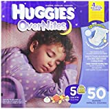 Huggies Overnites Diapers, Size 5, 50 Count Reviews