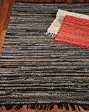 NaturalAreaRugs Ambiance Leather Rug, Hand Woven By Artisan Rug Maker, Reversible, 6' x 9'