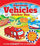 Igloo Books Ltd Awesome Vehicles Sticker Fun: Includes 2 Giant Fold-Out Play Scenes and Over 250 Stickers
