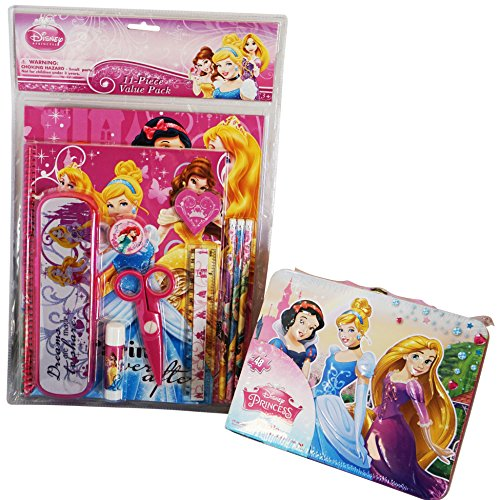 Disney-Princess-Back-to-School-and-Scrapbooking-Bundle-2-Items-Large-Tin-Lunch-Box-With-48-Piece-Puzzle-11-Piece-Value-Pack