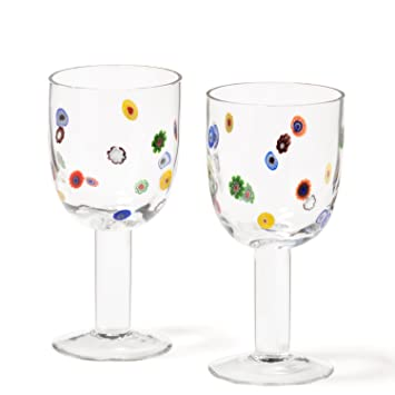 Leonardo Rotweinglas Millefiori 2er Set Rotwein Glas Weinglas Trinkglas Stilglas
