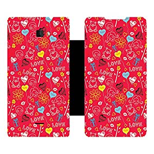Skintice Designer Flip Cover with Vinyl wrap-around for Coolpad Dazen 1 , Design - love doodle