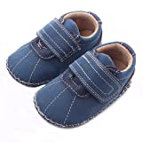 Lidiano Baby Boy Toddler Dull Polish Non Slip Rubber Sole Sneakers 0-18 Months (6-12 Months, Blue)