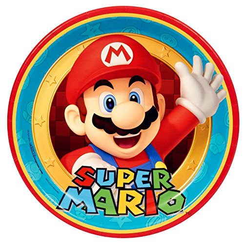 1 X Super Mario Party Dinner Plates (8)