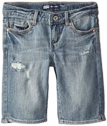 Levis Kids Girls' Shorts (617846821814_Blue_15 - 16 Years)