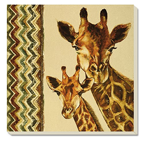 CounterArt Giraffe Family Absorbent Coasters, Set of 4