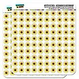 "Sunflower Shower 1/2"" (0.5"") Scrapbooking Crafting Stickers"