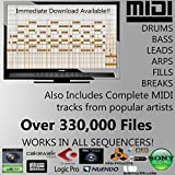MIDI Pack - 330,000 MIDI Files Pack by Rexsamples. Programming Drums /Keys /Bass/ or whole songs! - NOT SAMPLES - MIDI FILES