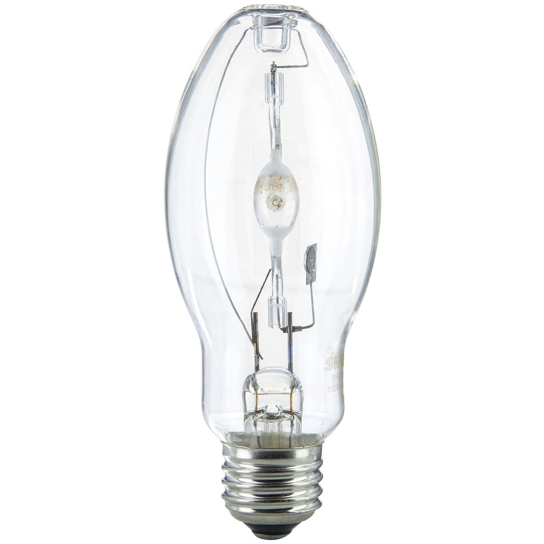 1000 Watt Metal Halide Lamp Lumens: Sunlite MH100/U/MED 100-Watt Metal Halide Bulb, Medium