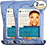 Makeup Remover Nu-pore Cleansing and Moisturizing Wet 25 Towelettes, (Lot of 2)