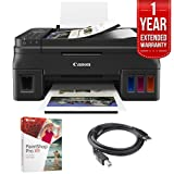 Canon (2316C002AA) PIXMA G4210 Wireless Megatank All-in-One Printer + Corel Paint Shop Pro X9 Digital Download + High Speed 6ft USB Printer Cable + 1 Year Extended Warranty