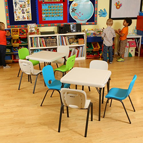 Folding Kids Table : Lifetime Kids Folding Table, Almond Furniture Tables Tables