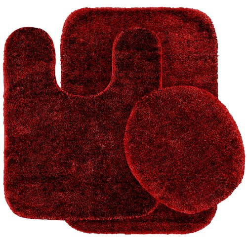 Garland Rug 3-Piece Traditional Nylon Washable Bathroom Rug Set, Chili Pepper Red at Sears.com