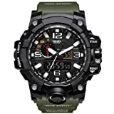 Sports Men's Watches Luxury Brand LED Digital Watch Fashion Casual Watches Digital Watch 1545 Military Men Sport Watch Watch (Color: Army Green)