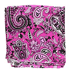 M & F Western Men\'s Paisley Silk Wild Rag Purple One Size