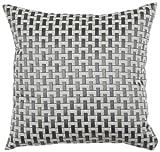 Urban Loft by Westex Soho Cushion, 20 by 20-Inch, Silver/Grey