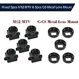 KKmoon Mixed 5pcs M12 MTV & 5pcs CS Metal Lens Mount CCTV Security Camera M12/CS Mount Lens Holder Supports Bracket PCB Board Module Adapter Connector