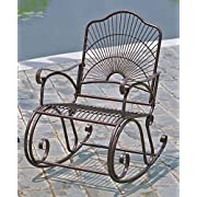 Iron Bronze Patio Rocking Chair