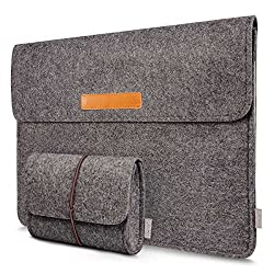 Inateck 13.3 Inch MacBook Air/ Retina Macbook Pro/ 12.9 Inch iPad Pro Sleeve Case Cover Ultrabook Netbook Carrying Case Protector Bag - Dark Gray
