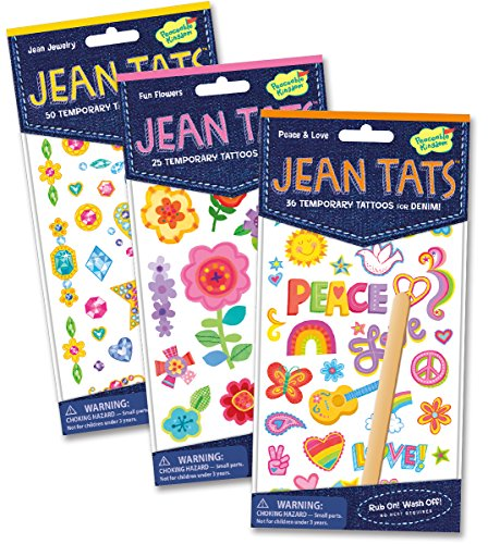Peaceable Kingdom Jean Tats Pretty Sweet of Temporary Tattoos for Fabric - 1