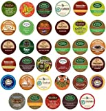 Green Mountain, Gloria Jeans, Timothys, Coffee People, Donut House, Celestial Seasonings, Emerils Unique Sampler K-Cup Portion Pack for Keurig Brewers, 35 Different