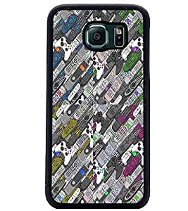 PrintDhaba Pattern D-2980 Back Case Cover for SAMSUNG GALAXY S6 (Multi-Coloured)