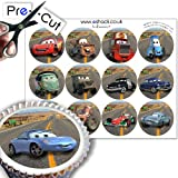 12 x PRE-CUT Disney Pixar Cars Cake Toppers By Eshack