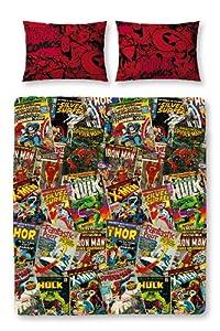 Juego de ropa de cama personajes Disney Marvel Comics reversible, multi-color - BebeHogar.com