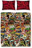 Character World Disney Marvel Comics Double Rotary Duvet Set, Multi-Color