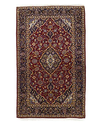 Darya Rugs Authentic Persian Rug, Red, 5' x 8'