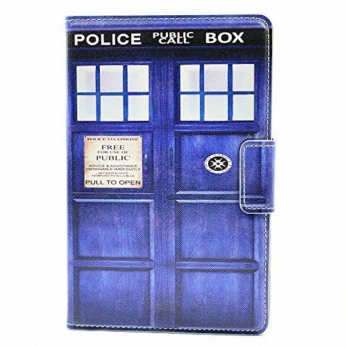 Police Call Box Unique Design Doctor Who Tardis Style PU Leather Stand Case Smart Cover For Apple ipad mini 1/2 Mini 3 New