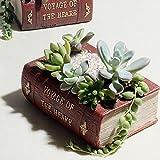 New Creative Resin Flower Pots For Flowers Succulents Bonsai Planter Vintage Books Garden Pots Plant Pot De Fleur...