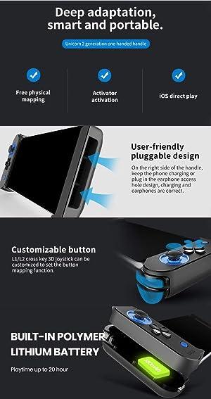 Wireless iOS Game Controller for PUBG Fotnite Asphalt 9, Megadream