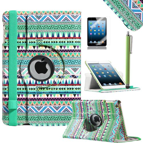 Read About Pandamimi ULAK(TM) Tribal Design 360 Rotating PU Leather Folio Stand Case Cover with Auto...
