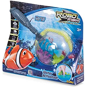 Robo fish with net by zuru novelty toy for Robo fish toy