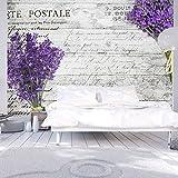 Vlies Fototapete 350x245 cm - Top Tapete ! Wandbilder XXL Wandbild Bild Fototapeten Tapeten Wandtapete Wanddeko Wand Blumen Lavendel b-A-0156-a-a
