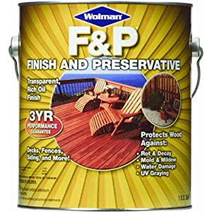 Zinsser & Co Gal Redwd F&P Wd Finish 1440-6 Exterior Wood Protectors/Preservative