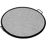 Sunnydaze X-Marks Fire Pit Cooking Grill, 36 Inch Diameter
