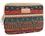 Fantastic Job New Design Bohemian Style Canvas Fabric Laptop Sleeve for Apple Macbook Air/ Macbook Pro/ Dell/ Hp/ Lenovo/ sony/ toshiba/ ausa/ acer/ samsung Laptop (17 in, New Bohemian)