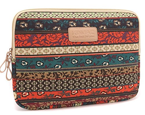 Terrific Job New Design Bohemian Style Canvas Construction Laptop Sleeve for Apple Macbook Air/ Macbook Pro/ Dell/ Hp/ Lenovo/ sony/ toshiba/ ausa/ acer/ samsung Laptop (17 in, New Unconforming)
