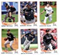 2013 Topps Baseball Cards Update Series- Miami Marlins Team MLB Trading Set - 10 Cards: US3 Chad Qualls US13 Jose Fernandez RD US32 Adeiny Hechavarria RC US81 Casey Kotchman US82 Bryan Petersen US83 Alex Sanabia US133 Jose Fernandez AS US178 Derek Dietric