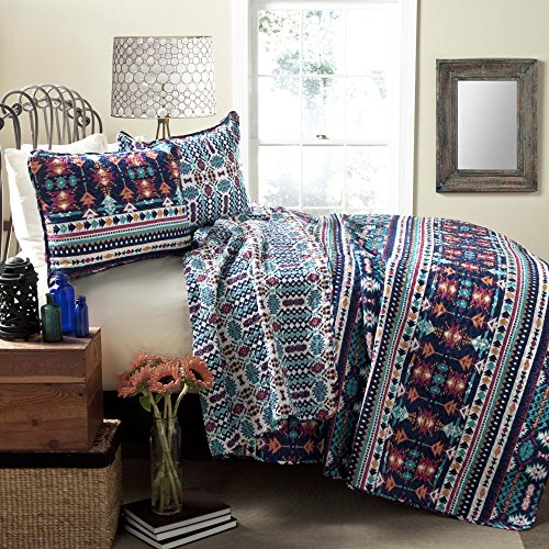 3-Pieces-100-Cotton-Modern-Boho-Chic-Style-Coverlet-Set-Reversible-Full-Queen-Size