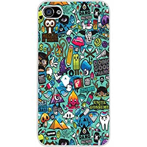 Casotec Crazy Design Hard Back Case Cover for Apple iPhone 5 / 5S