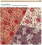 moda fabrics 【30cm以上】Moda 大人気French General フランスのアンティーク柄のような色合いが特徴♪花柄図案が素敵な生地◆モダの布地 【モーダ】【輸入生地】【USAコットン】【手芸の柳屋】 11 赤系