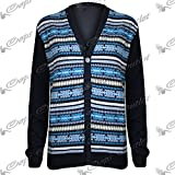 Be Jealous Cardigan Top Mens Front Buttons Aztec Knitted Long Sleeves Knitwear Sweater Size