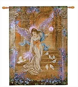 Angel of light art by lena liu fiber optic for Christmas wall art amazon