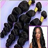 Junhair 5A Brazilian Virgin Human Hair Weft Wavy Loose Wave 3pcs/lot 300gram Natural Colour