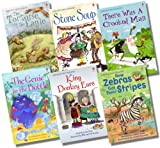 Various Usborne First Reading Level 2 Collection - 6 Books RRP £29.94 (There was a Crooked Man; The Tortoise and the Eagle; How Zebras Got Their Stripes; King Donkey Ears; Stone Soup; The Genie in the Bottle)