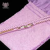 ●振袖用-絞り帯揚げ帯締めセット(小) 紫系[30080020]